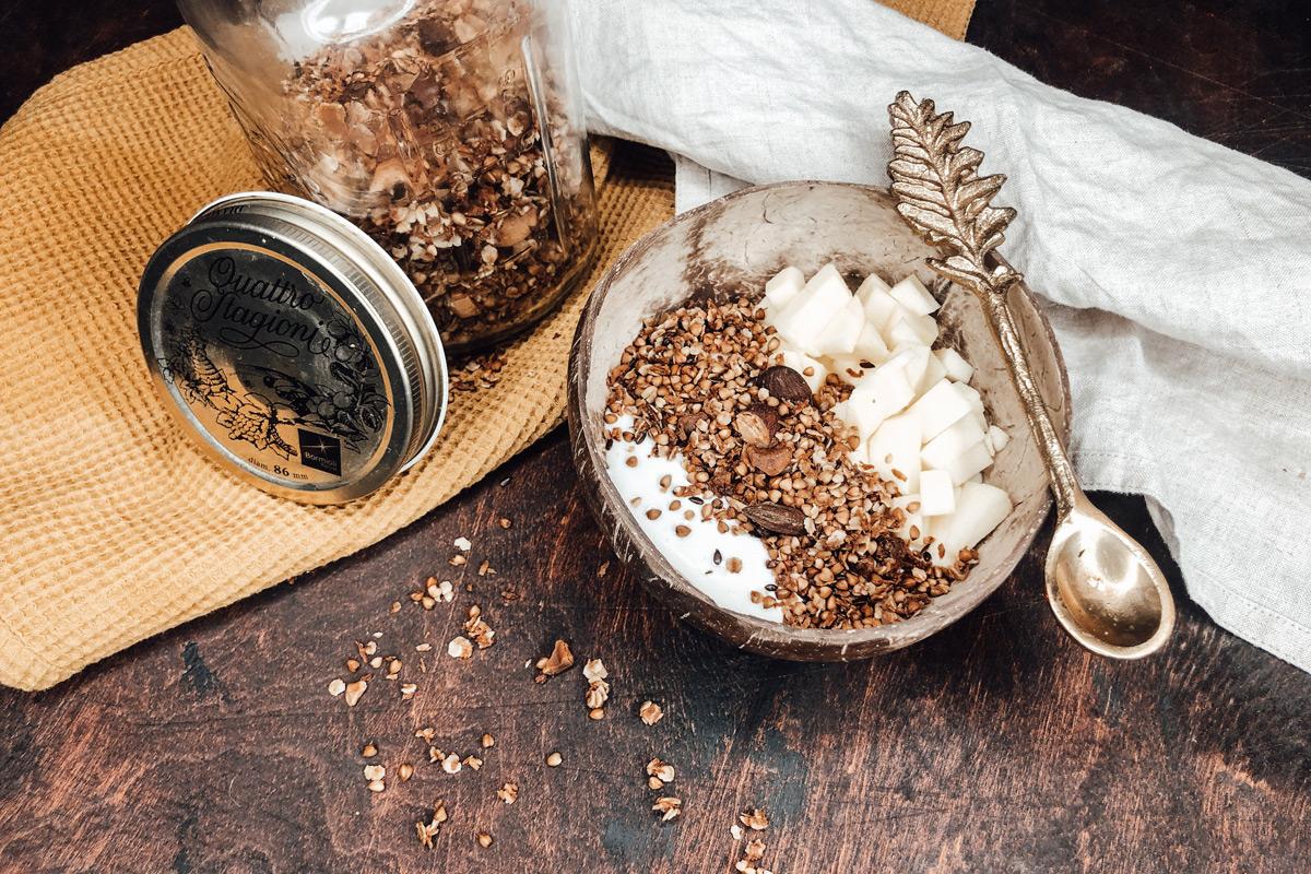 Buchweizen Granola, Lifesteilblog, Foodblog, Glutenfrei