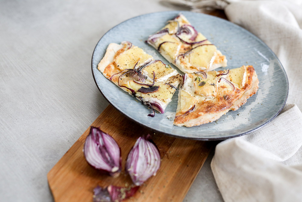 Flammkuchen Mit Camembert (glutenfrei)