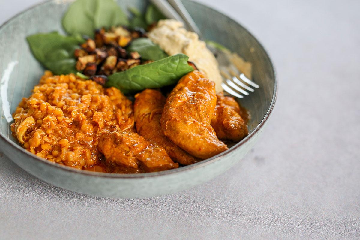 India-Bowl Mit Tandoori Chicken