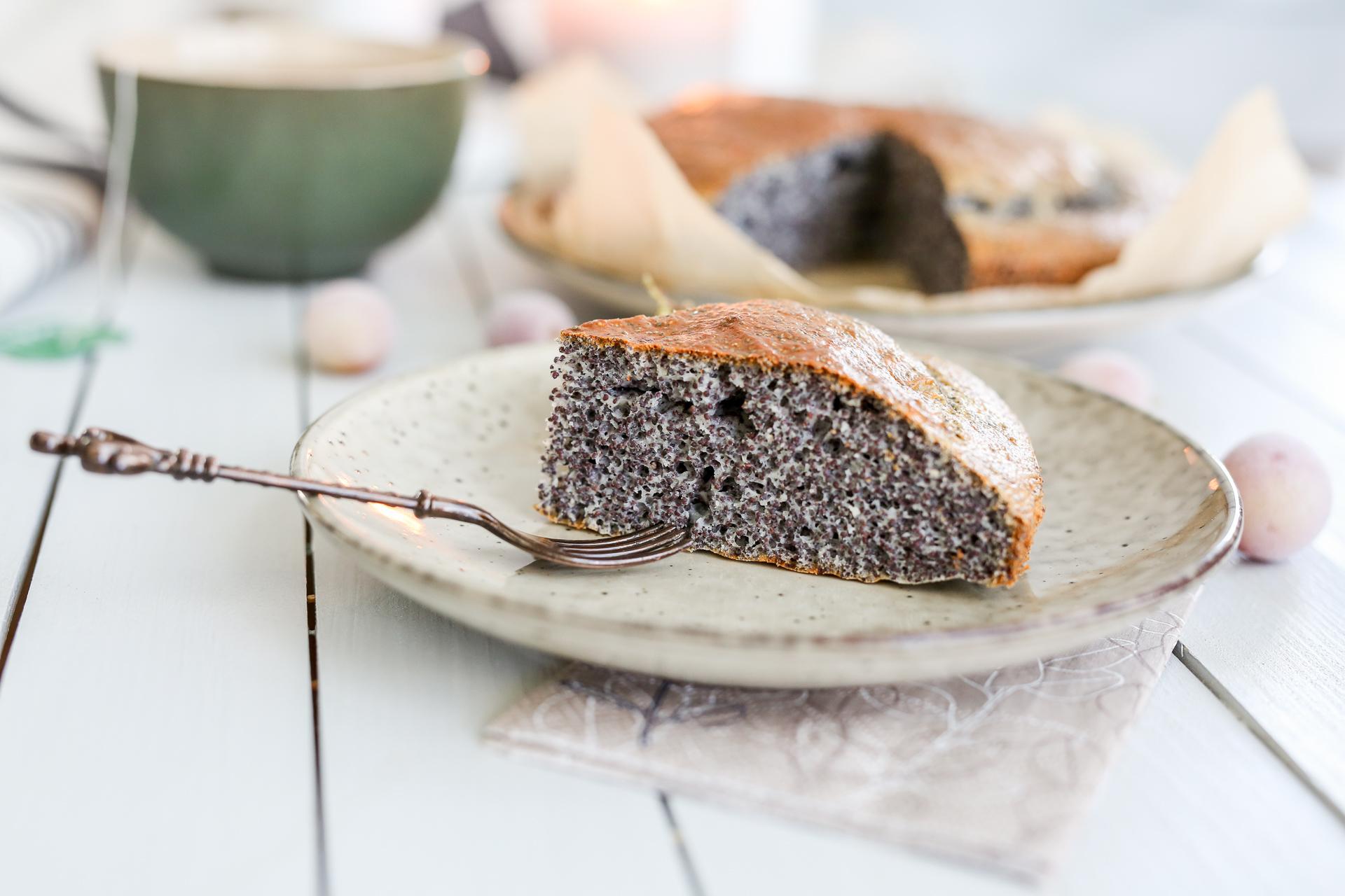 Glutenfreier Lowcarb Mohnkuchen
