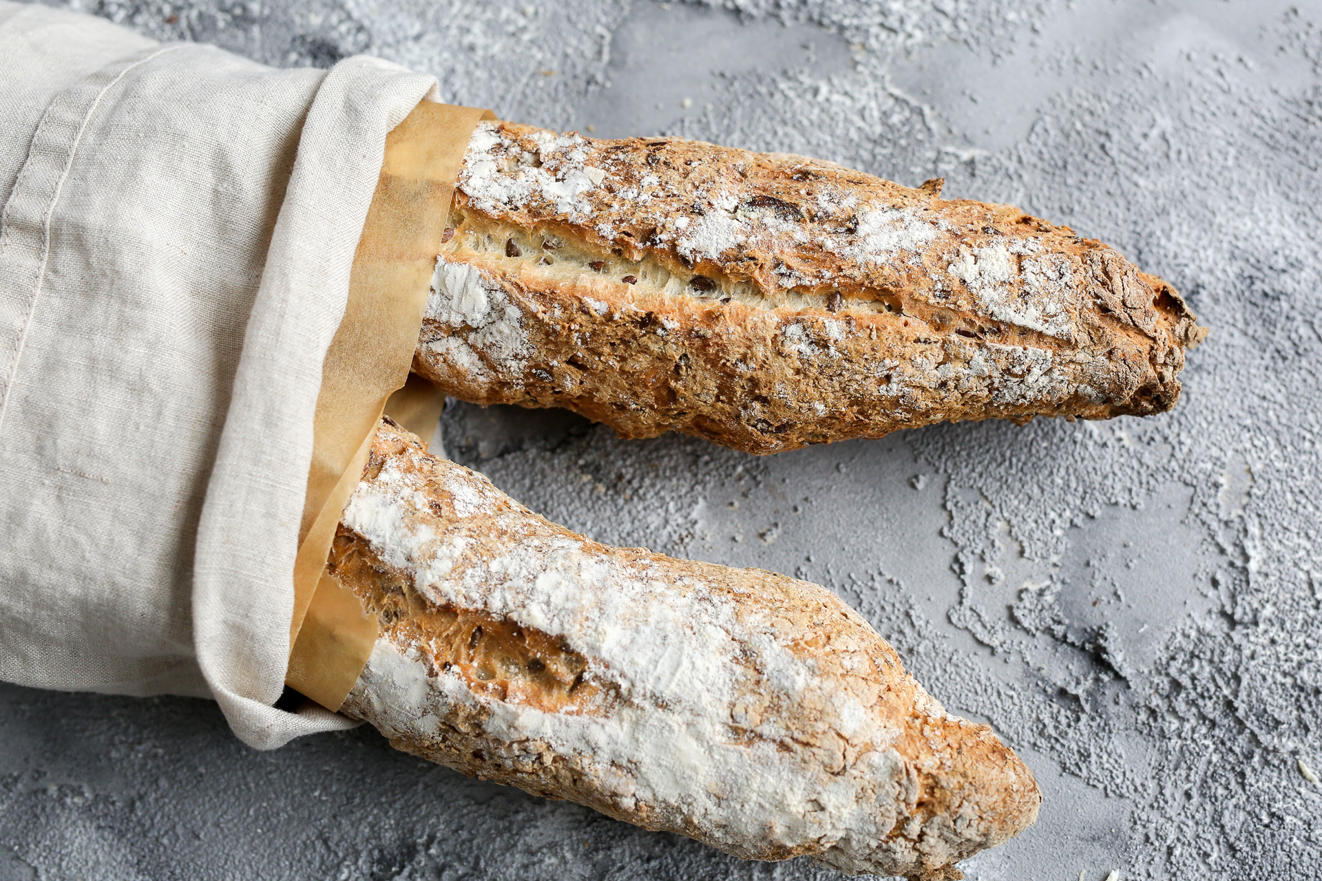 Glutenfreie Smartmehl Baguettes